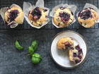 Blueberry Basil Muffins